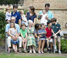 Back row; Prince Vincent, Prince Frederik, Princess Josephine, Princess Mary, Princess Athena, Prince Joachim. Front row; Henrik, Princess Isabella, Prince Christian, Princess Marie and Princes Nikolai, Felix and Henrik