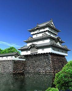高松城 Japanese Castle, Asian Architecture, Japanese Design, Castles, Mansions, House Styles, Fantasy, Arquitetura, Japan Design