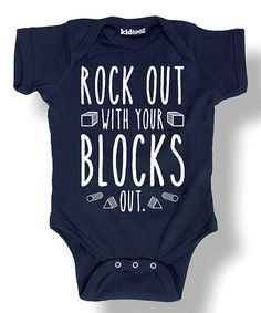 Love this Navy 'Rock Out With Your Blocks Out' Bodysuit - Infant on #zulily! #zulilyfinds @sarah