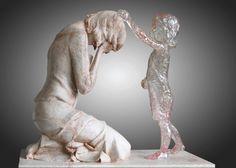 Dech beroucí úžasná socha Martina Hudáčka. Památník pro nenarozené děti
