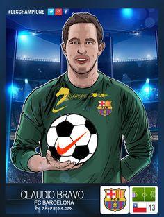 #LesChampions #Stickers » Claudio #Bravo #Goalkeeper #Barcelona #Chile https://www.facebook.com/leschampionsstickers