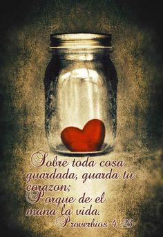 La vida mana de nuestro corazón!! cúidaloo,vive felizz!! saludos en plenitud!!