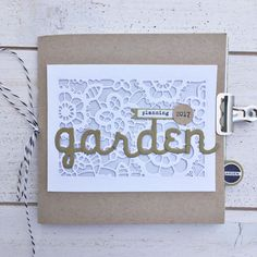 Garden Planning Mini Book by Heather Nichols for Papertrey Ink (July 2017)