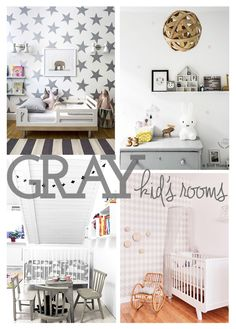 Gray decor for nursery and children's rooms. | #gray