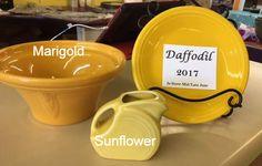 Comparing Fiesta® Daffodil to Marigold and Sunflower    Canton Dish Barn