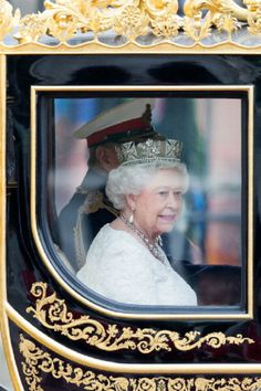 RH Queen Elizabeth II leaves Buckingham Palace to attend the State Opening of Parliament, 04.06.2014 in London, England.