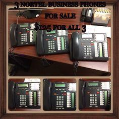 3 Nortel Business Phones for sale. $125 for all 3. #ascensionandassociates #memphis #forsale #businessphones #nortel