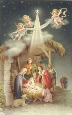 Shop Vintage Religious Christmas Nativity Greeting Card created by RetroMagicShop.