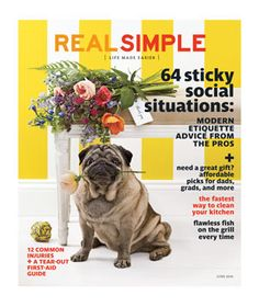 The cover of Real Simple magazine June 2014!!!