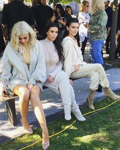 "jenner-kandids: """"September 7, 2016 - At the Yeezy Season 4 show at Roosevelt Island in New York. "" """