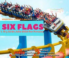Six Flags nos espera en estas vacaciones de #verano 1, 15 y 22 de Julio saliendo de #Veracruz, #Cardel y #Xalapa 😁🎢🎡🚌  📞OFICINA 1508316 📱 WhatsApp 2291476029 📨 turismoenveracruz@gmail.com 🌐 http://www.veracruztour.com/promociones.htm