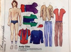 Finnish paper doll Andy Gibb