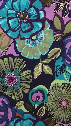 Wallpaper flowers green
