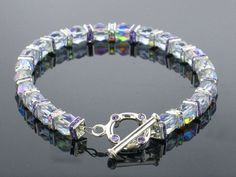 Tutorial: How to make this fancy crystals bracelet and learn about our different kinds of beading wire.