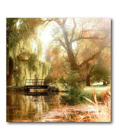 Look what I found on #zulily! Weeping Willow Wrapped Canvas #zulilyfinds