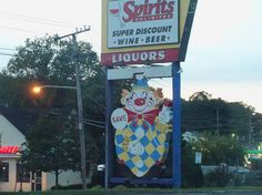 the famous sign outside the original Food Circus store, featuring Calico the Clown (also known as the Evil Clown of Middletown). Jersey Girl, New Jersey, Monmouth County, Red Bank, Evil Clowns, Child, The Originals, Boys, Kid