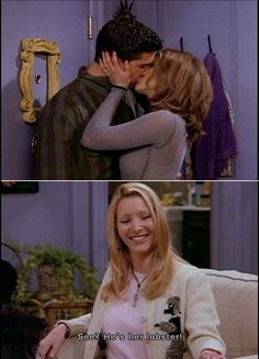 See?  He's her lobster.  Favorite Friends' line ever. <3 for my lobster... ;)