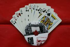 """The Amazing Mini Gripper Hand-held playing card holder - Fun """"London"""" fabric design! - pinned by pin4etsy.com"""