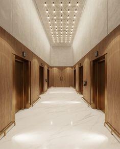 The Warsaw HUB - wnętrza hotelowe - The Warsaw HUB - wnętrza hotelowe Corridor Design, Hall Design, Lobby Interior, Office Interior Design, Modern Interior, Hotel Interiors, Office Interiors, Elevator Lobby Design, Hotel Corridor