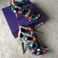 Brand new Madden Girl Ditaaa Floral sandals This is a gorgeous floral lace up sandals that's never been worn. Got this on impulse when it first came out but never had the chance to wear it. I am selling for how much I got it back then. I know it went on sale afterwards before it sold out. with box. Size 7.5 but fits like 7.  ⭐️ Let's connect, I'm @styleanthropy on Instagram! Leave your IG username and I'll follow back. Love getting in touch with fellow Poshers on social media.  Madden Girl…