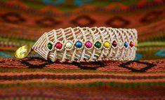 This Beaded Fishbone Macrame Bracelet definitely makes a splash. Love the bohemian flair it has.