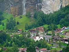 Lauterbrunnen – Wikipedie Alps, Switzerland, Beautiful Places, River, World, Outdoor, Naturaleza, Geography, Virgo