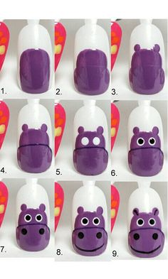 Trendy Nail Art, Cute Nail Art, Cute Nails, Nail Art Designs Videos, Best Nail Art Designs, Baby Girl Nails, College Nails, Easter Nail Designs, Nail Art Photos