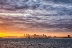 A surreal sunset; Boston, MA #HDR