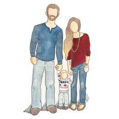 Doodle & Delight — Family Portrait