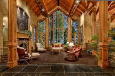 Taking floor-to-ceiling windows to the next level The Cottage - Tahoe Lakefront Vacation Rental | Tahoe Luxury Properties