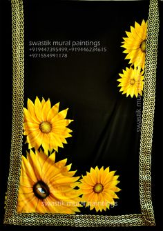 swastik fabric paintings  #fabricpaintings #sunfloewr #paintings #muralpaintings