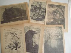 Inkjet-printed book pages - PAPER CRAFTS, SCRAPBOOKING & ATCs (ARTIST TRADING CARDS)