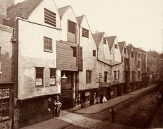 Old houses in Bermondsey Street, This photograph was commissioned by the Society for Photographing Relics of Old London to form part o. London Pictures, London Photos, Old Pictures, Old Photos, Vintage Photos, Vintage Photographs, Victorian London, Vintage London, Victorian Era