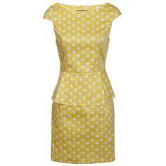 AX Paris Dress Peplum Polka Dot Yellow with White