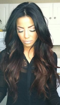 BEAUTIFUL OMBRE Full Wig 26 inches by GoddessTreasureLand on Etsy, $89.99