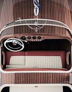 Riva cockpit. Everyone deserves a speedboat, at least once in a life.