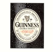 Guinness Extra Stout Label Beer Sign