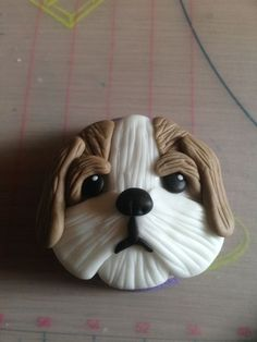 Dog cupcakes #4: Shih Tzu cupcake picture tutorial - by For the love of cake @ CakesDecor.com - cake decorating website