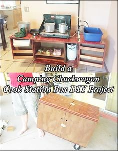 """Build a Camping Chuckwagon Cook Station Box DIY Project Homesteading  - The Homestead Survival .Com     """"Please Share This Pin"""""""