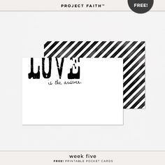 FREE Project Faith™ Week 5 @ Danielle Young Designs