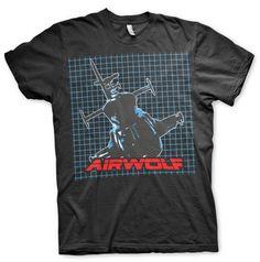 Airwolf Pattern T-Shirt  Hybris  Mens T-Shirts, Airwolf www.detoyboys.nl