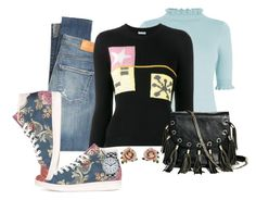 """""""Belinda's Jeans Outfit"""" by mozeemo ❤ liked on Polyvore featuring Oasis, Citizens of Humanity, Miu Miu, adidas, Les Néréides, Timex and GUESS by Marciano"""