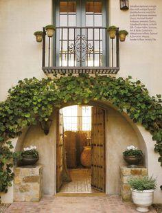 California-Spanish style entry