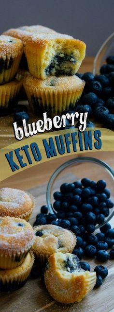 These Low Carb Muffins use fresh blueberries and are the perfect keto grab and go snack! 6 Awesome Low Carb Breakfast Recipes These Low Carb Muffins use fresh blueberries and are the perfect keto grab and go snack! Keto Friendly Desserts, Low Carb Desserts, Low Carb Recipes, Diet Recipes, Flour Recipes, Mince Recipes, Smoothie Recipes, Baking Recipes, Vegetarian Recipes