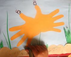 Hermit Crab Handprints from Keep Them Busy!