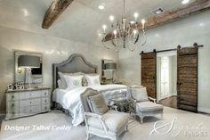 Secrets of Segreto - Segreto Secrets Blog - gray bedroom with sliding barn doors