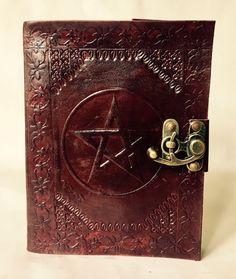 Leather Journal // Pentagram Journal // Blank Leather-Bound