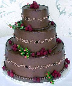 "Sweet Life of Cakes / chocolate wedding cakes | Chocolate Raspberry Wedding Cake by ""Sweet Brown Suga Designer Cakes"""