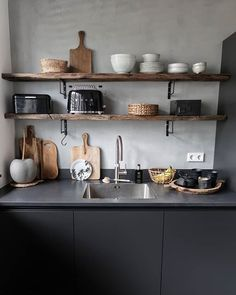 It& my weekly day off Kitchen Interior, Kitchen Design Small, Small Kitchen, Kitchen Remodel, Kitchen Decor, New Kitchen, Home Kitchens, Minimalist Kitchen, Kitchen Design