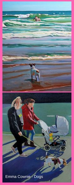 Dogs by Swansea artist, Emma Cownie. Prints available.